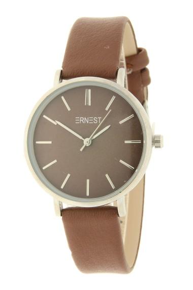Ernest horloge Silver-Cindy-Medium AW21 chocolate