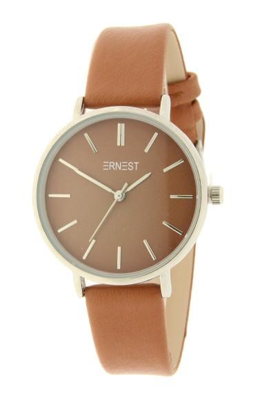 Ernest horloge Silver-Cindy-Medium AW21 caramel