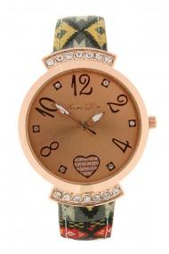 """Souris D'or horloge """"Peru"""" rood"""