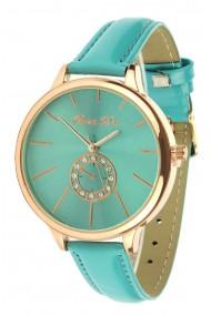 "Souris D'or horloge ""Circle"" turquoise"