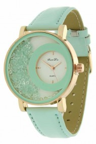 "Souris D'or horloge ""Rosé glammm"" mint"