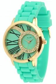 """Souris D'or horloge """"Satoria"""" turquoise"""