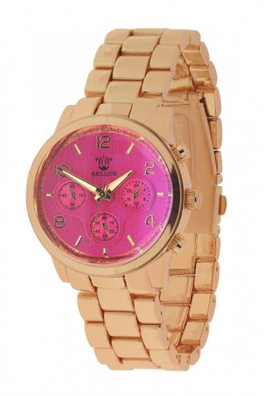 "Bellos horloge ""Milano"" fuchsia"