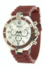 """Ernest horloge Silver-case"""" bordeaux"""