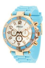 """Ernest horloge Rosé"""" lichtblauw"""