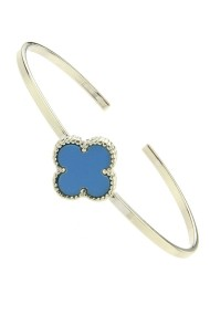 "Armband ""COLOR FLOWER"" blauw"