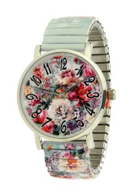 "Ernest horloge ""Mini Flowers"" mint"