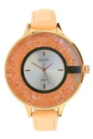"""Souris D'or horloge New Glitzzz"""" zalm"""