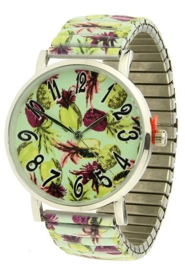 "Ernest horloge ""Pineapple"" lime"