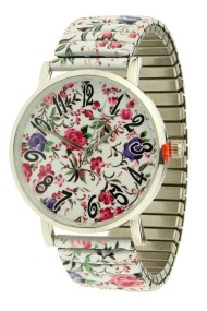 "Ernest horloge ""Multi-Flowers"" wit"