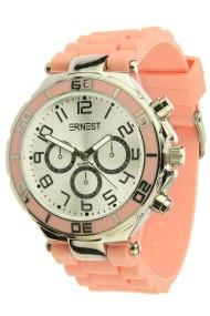 "Ernest horloge ""Silver-case"" peach"