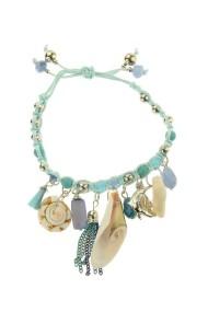 "Armband ""Shells"" lichtblauw"