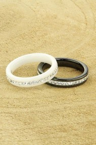"Ring ""Ceramic-Stones"" zwart"