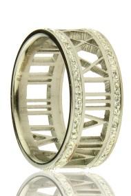 """RVS ring """"Greek"""" zilver"""