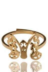 "RVS ring ""Butterfly"" rosé"