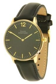 """Philippe Constance horloge """"Class"""" goud-zwart"""