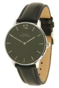 """Philippe Constance horloge """"Class"""" zilver-zwart"""