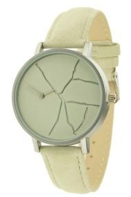 """Ernest horloge """"Crack"""" beige"""