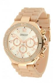 """Ernest horloge """"Rosé"""" donkergrijs"""