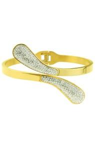 "RVS armband ""Swoosh"" goud"