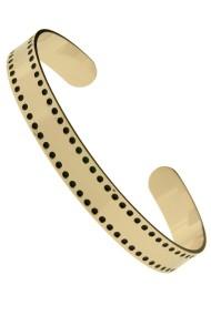 "RVS armband ""Dots"" rosé"