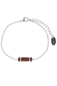 "RVS armband ""Demi"" bordeaux"