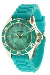 "Ernest horloge ""Temple"" turquoise"