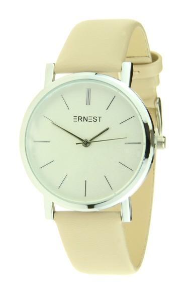 """Ernest horloge """"Silver Andrea"""" beige"""