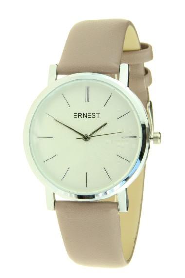 """Ernest horloge """"Silver Andrea"""" oudroze"""