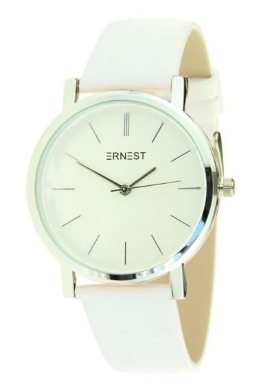 """Ernest horloge """"Silver Andrea"""" wit"""