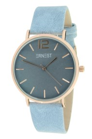 "Ernest horloge ""Rosé-Cindy"" jeansblauw"