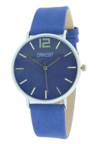 """Ernest horloge """"Silver-Cindy"""" koningsblauw"""