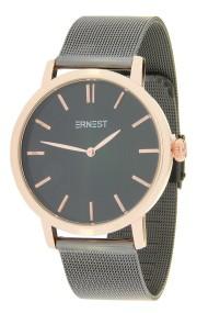 "Ernest horloge ""Metal-Lachifa"" bi-color zwart-rosé"