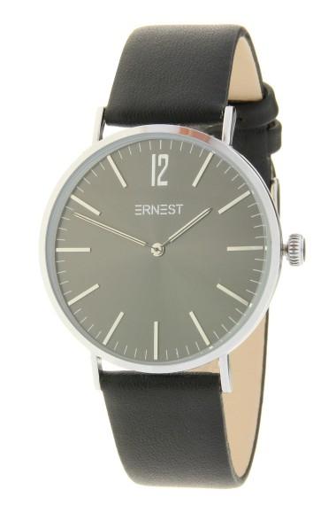 """Ernest horloge """"Silver Lechita"""" zwart-zwart"""