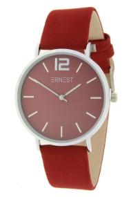 "Ernest horloge ""Autumn-Silver-Cindy"" donkerrood"