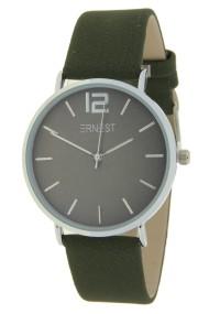 "Ernest horloge ""Autumn-Silver-Cindy"" donkergroen"