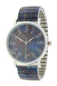 """Ernest horloge """"Dark blue Fantasy"""""""