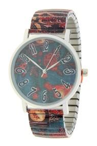 """Ernest horloge """"Dark sea water flowers"""""""