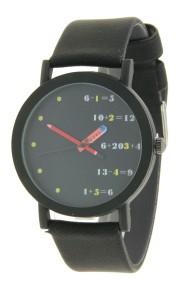 "Ernest horloge ""Pencil"" zwart-zwart"