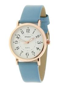 """Ernest horloge """"Rosé-Milac"""" jeansblauw"""