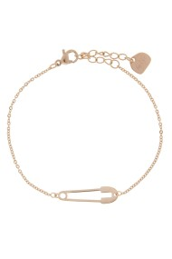"RVS armband ""Safety Pin"" rosé"