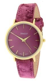 """Ernest horloge """"Gold-Nox-Velvet"""" fuchsia"""